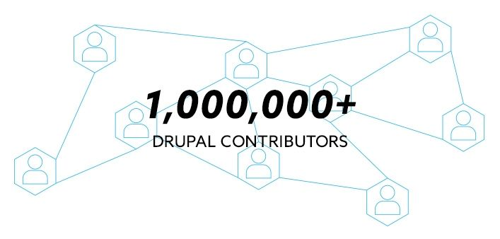 There are over 1,000,000 Drupal Contributors making Drupal increasingly secure.