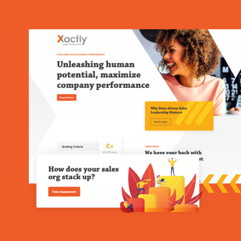 screenshot of xactly homepage