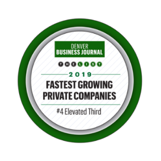 denver business journal badge fastest growing private companies 2019