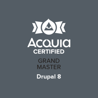 Acquia Certified Grand Master Badge